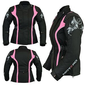 Motero Ladies Women Motorcycle CE Armoured Waterproof Windproof Cordura Jacket
