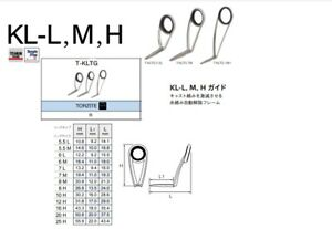 Fuji guides TORZITE Titanium T-KLTG all sizes, SILVER frame, Best guides FUJI