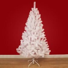 6ft Christmas Tree White Pines Artificial Tree with Metal Stand Decoration Pine