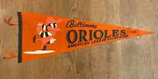 Vintage Baltimore Orioles1966 American League Champs Soft Felt Pennant silk ties