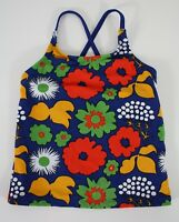 Marimekko for Target Girls Tankini Top Kukkatori Print Swim Size M