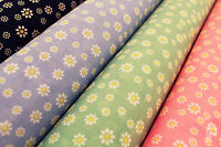 NEW DAISY FLOWER DESIGN  - PRINTED POLY COTTON FABRIC