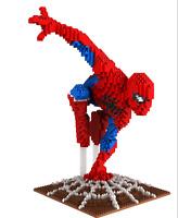 Bausteine Spiderman Superheld Creative Kinder Figur Spielzeug Modell Geschenk