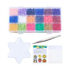 3500pcs 5mm Melty Fuse Beads DIY Toys Iron Tweezers Paper Star ABC Pegboards