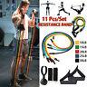 11tlg Widerstandsbänder Set Gymnastikband Yoga Fitnessbänder Expander Superband
