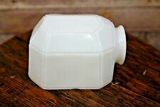 Vintage Antique Milk Glass Porcelain Subway Tile/Turtle Design Sconce Shade