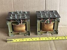More details for 2x vintage transformers - poem 046a chassis mount - marked 12v, 12v, 7.5v