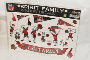 NFL Tampa Bay Buccaneers Family Spirit Window Decals, set of 2 pkgs, By Rico
