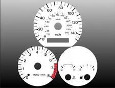 1998-1999 Mazda 626 Dash Cluster White Face Gauges 98-99