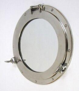"""17"""" Porthole Window Aluminum~ Aluminum Porthole ~ Ship Porthole ~ Nautical Decor"""