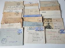 25 Feldpost Briefe & Karten von Wehrmacht Soldaten mit unterschiedlichen Nummern