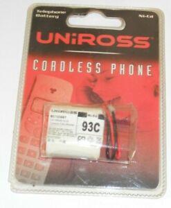93C 2.4V Cordless Phone Battery 300mAh Ni-Cd BC103667 Uniross