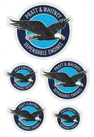 Pratt and Whitney Dependable Engines Stickers New Style