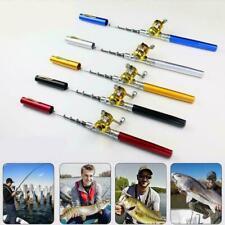 Fishing Rod Portable Mini Pocket Pen Shape Aluminum Fish Pole Reel Hot with N8K2