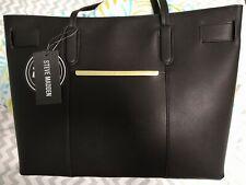 Steve Madden Bcarter Tote Shoulder Bag Purse Black Wallet Spacious