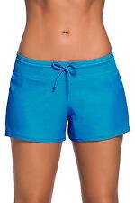 Blue Women Swim Board shorts Swimsuit Bottoms Size UK 8-10