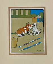 Cecil Aldin Hog Scares Terrier Farm Humor Dog Chromolithograph Vintage