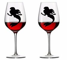 9 x Little Mermaid  Vinyl Decal Wine Glass stickers