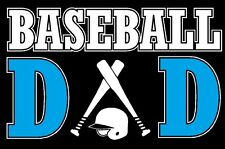 Baseball Dad Decal Sticker Custom Made