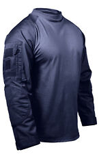 combat shirt navy blue tactical style various sizes rothco 90035