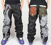 Men Hip-Hop Ecko unltd Skateboard Casual Embroidery Jeans Graffiti Pants