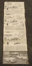 1953 Ford Truck Trophy Series AMT model car kit directions TI-153