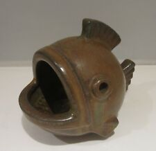 Gunnar Nylund For Rorstrand Stoneware Fish Sculpture / Spoon Warmer