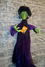 """Animated Talking Witch 6' Long Halloween Prop Decoration Display   """"SEE VIDEO"""""""