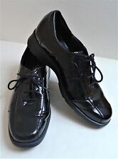 Sioux Black Patent Lace Up Ladies Shoes  UK 4 1/2 G.  Superb Condition. 7 Images