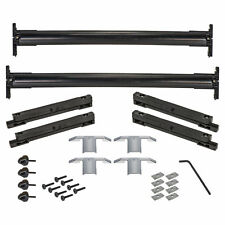 OEM NEW Roof Rack Cross Rails Kit Black w/Chrome End Caps 08-17 Enclave 12499978