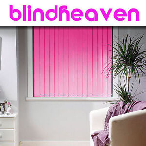 VERTICAL BLINDS Made to Measure THERMAL BLACKOUT Fabric 30 COLOURS From £10.55