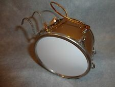 GOLDEN MARCHING BASS DRUM MUSICAL INSTRUMENT ORNAMENT 3 INCHES BY 1 3/4  INCHES