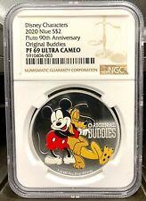 2020 Niue Disney Mickey Pluto 90th Anniversary 1 oz Silver Coin - NGC PF 69 UCAM