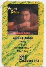 VASCO ROSSI RARO CARD made in ITALY Jenny PLASTIFICATA