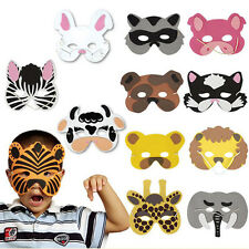 12Pcs Kids Cosplay Halloween Animal Masks Head Zoo Party Dress Jungle Costume