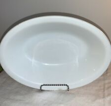 """1800's ANTIQUE WHITE IRONSTONE OVAL SERVING BOWL ~J. & G. MEAKIN~ 8"""" X 11"""" LARGE"""