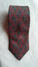 Christian Dior Silk Necktie Tie Pink Blue Paisley 58 X 3 1/4