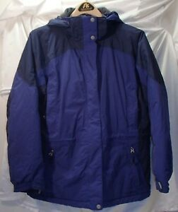 LL Bean Blue Hooded Winter Parka/Coat/Jacket Womens Size Large