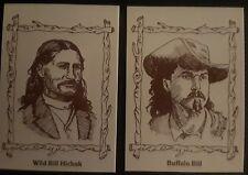 1979 GARO LEGENDS OF THE OLD WEST WILD BILL HICKOK #10 / BUFFALO BILL #12