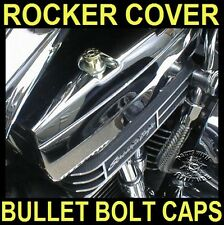 BRASS BULLET BOLT CAPS for HARLEY TWIN CAM ROCKER BOX BOLTS (SET OF 4)      b/u