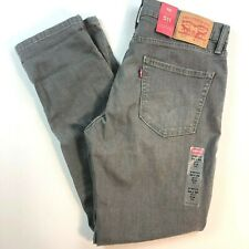 NWT Levis 511 Slim Fit 2 Way Stretch Denim Jeans 045111299 Mens 34 x 30 Gray