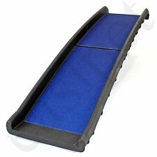 Dog Pet Ramp Plastic Folding Bi Fold Lightweight Strong Travel Car Van Easipet