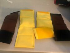 4-MALE DOG BELLY BANDS LEAK PROOF YELLOW AND BROWN