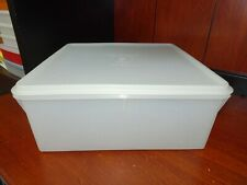 Vtg Tupperware SHEER 12.5 x 12 .5 x 5 Square Keeper 166-1 Large 36 Cups