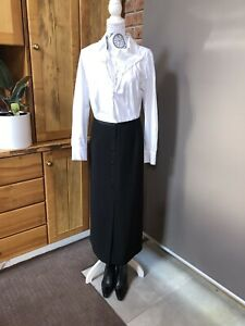 """ROBERT D""""ANGELO TABLE EIGHT BLACK LINED SKIRT - Size 18- New"""