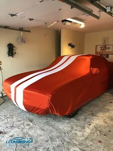 Coverking Satin Stretch Indoor Car Cover for Chevy Camaro with Racing Stripes