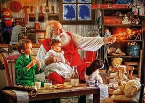Gibsons - Calling the Sleigh 2000 Piece Jigsaw Puzzle Brand New & Sealed G8006
