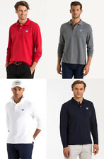 North Sails Navy White Long Sleeve Cotton Polo Shirt T shirt top S M L XL 2XL