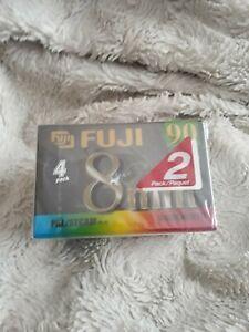 4×FUJI 8mm 90 video cassette-PV 90 ( for cameras)  PAL/SECAM        NEW