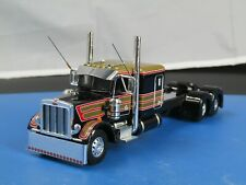"1/64 Dcp CUSTOM stretched frame black/gold Peterbilt 359 63"" tractor new no box"